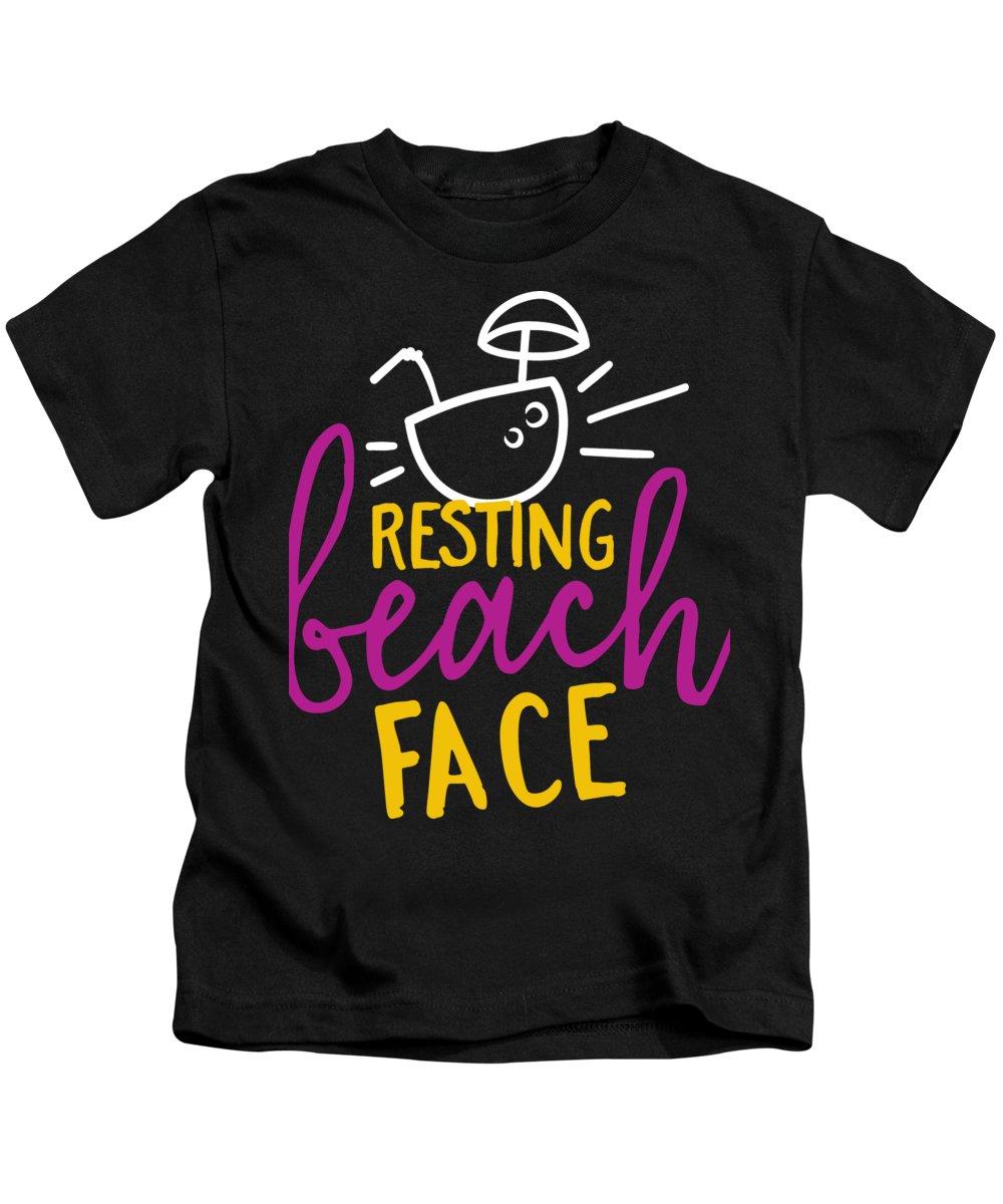 Beach Kids T-Shirt featuring the digital art Resting Beach Face by Jacob Zelazny