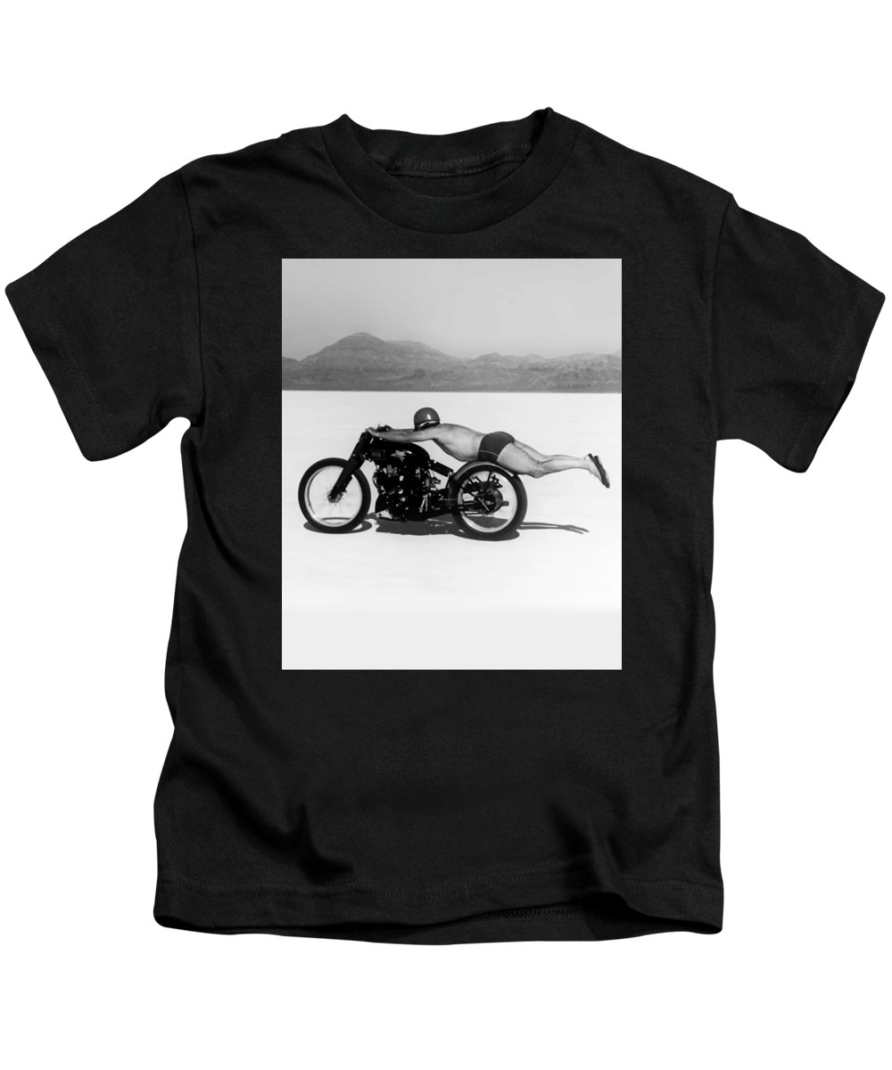 Rollie Free Kids T-Shirt featuring the photograph Roland Rollie Free by Mark Rogan
