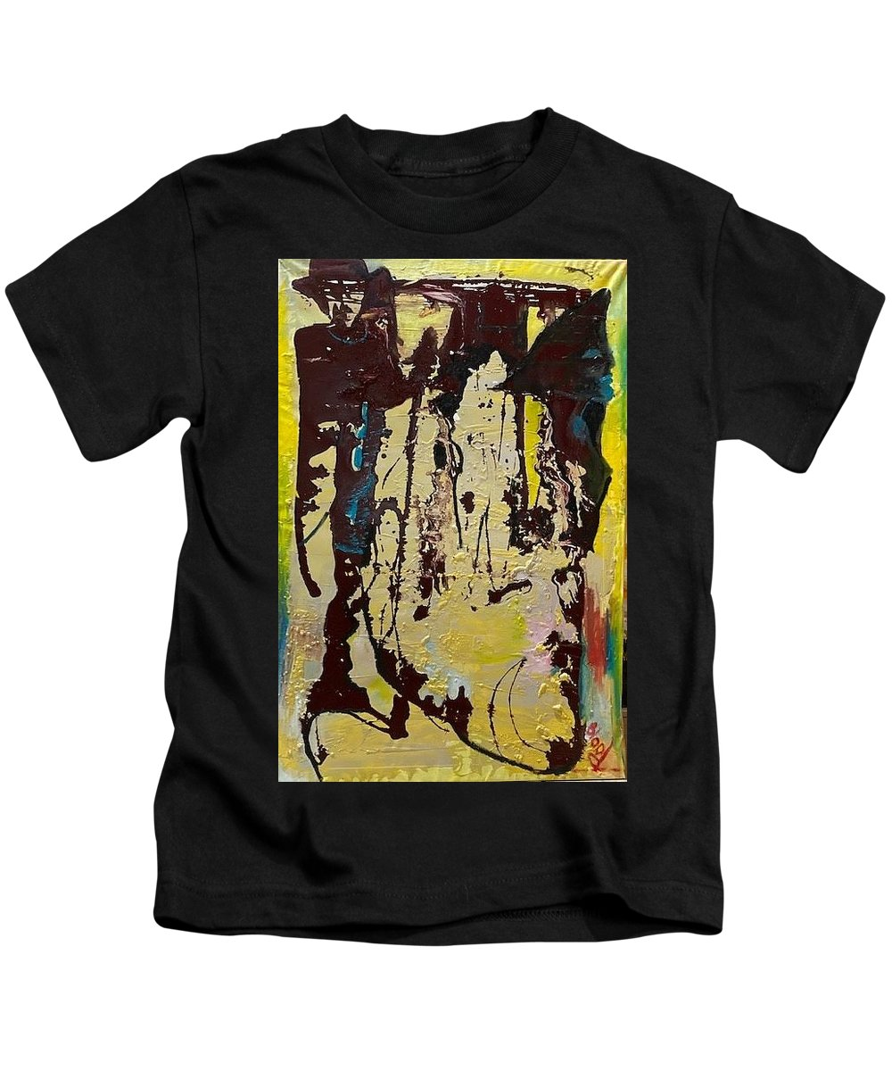 Women Kids T-Shirt featuring the painting Sisters by Peggy Blood