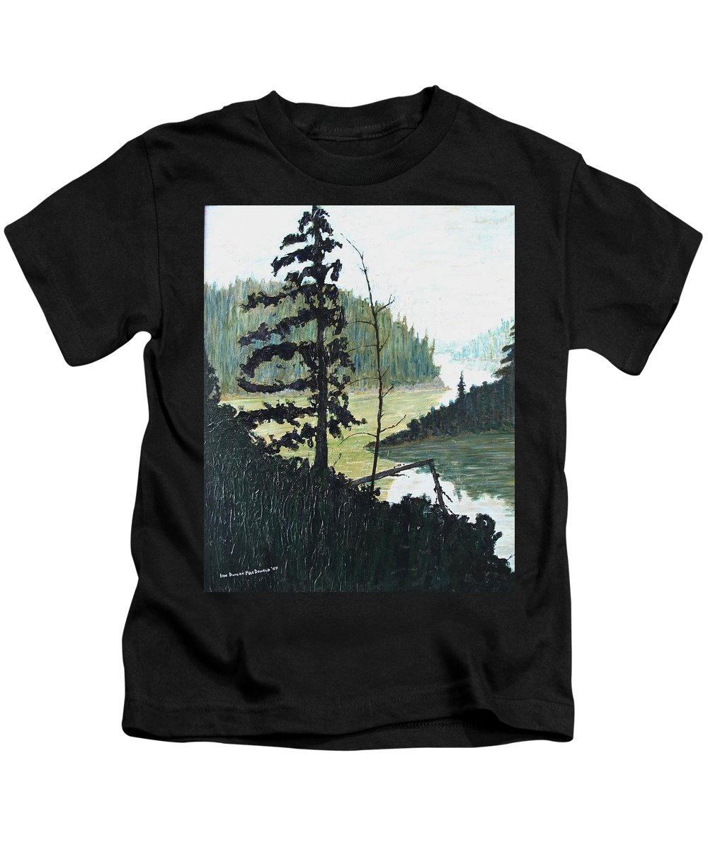 Sudbury Kids T-Shirt featuring the painting South of Sudbury by Ian MacDonald