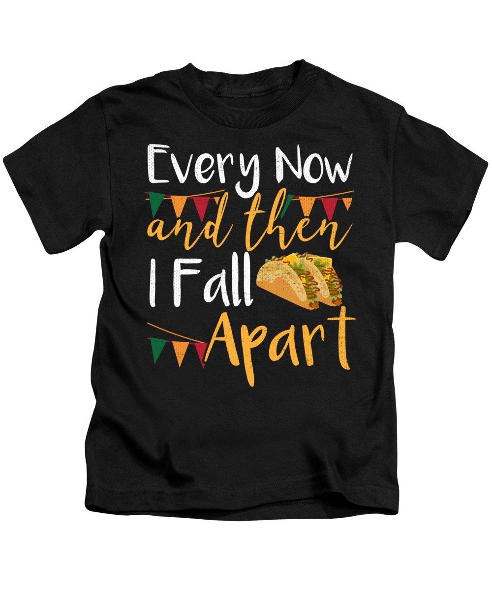 Cinco De Mayo Kids T-Shirt featuring the digital art Taco Funny Fiesta Mexican Food Cinco De Mayo by Jacob Zelazny