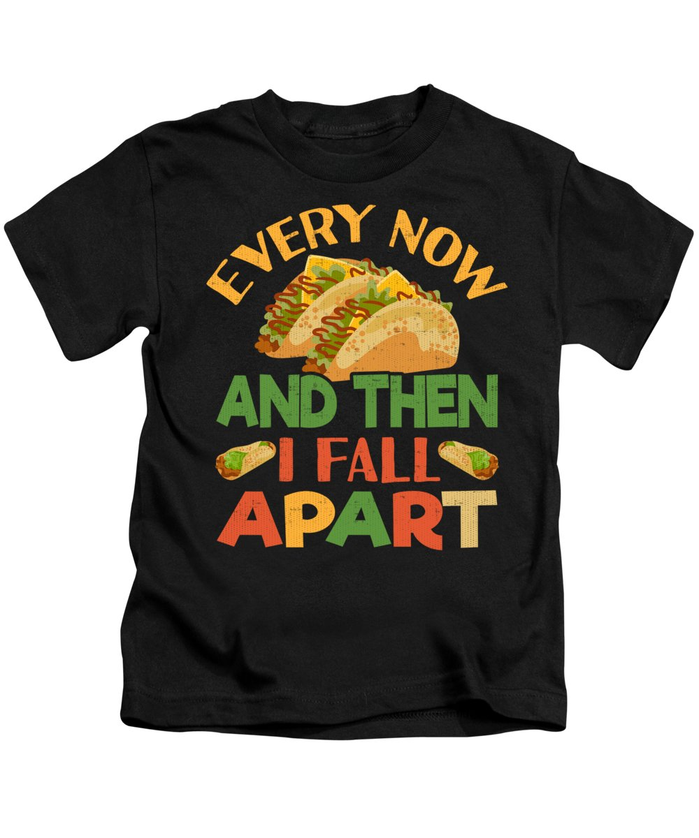 Cinco De Mayo Kids T-Shirt featuring the digital art Taco Funny Mexican Food Feista Cinco De Mayo by Jacob Zelazny