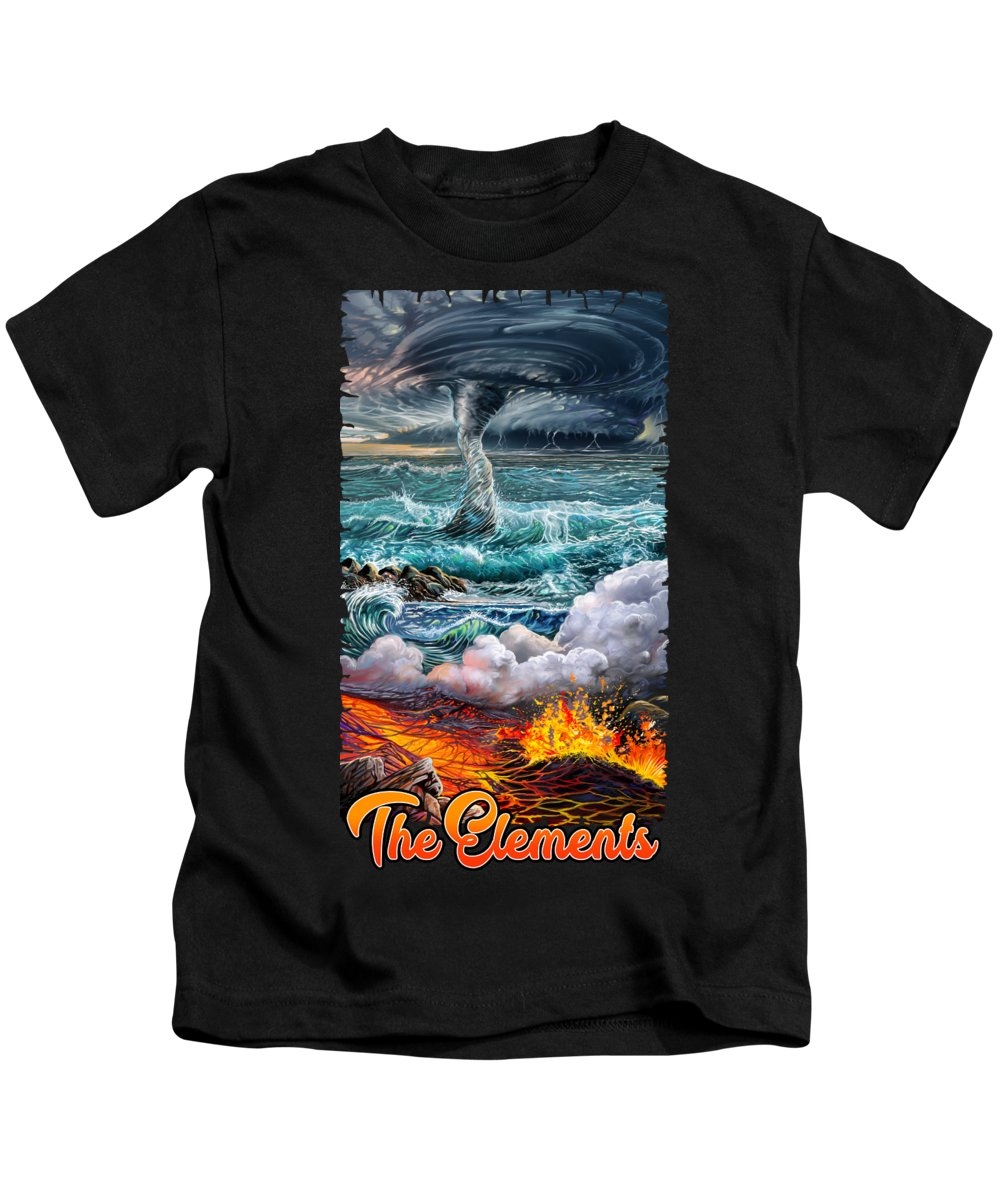 Air Kids T-Shirt featuring the painting The Elements by Anthony Mwangi