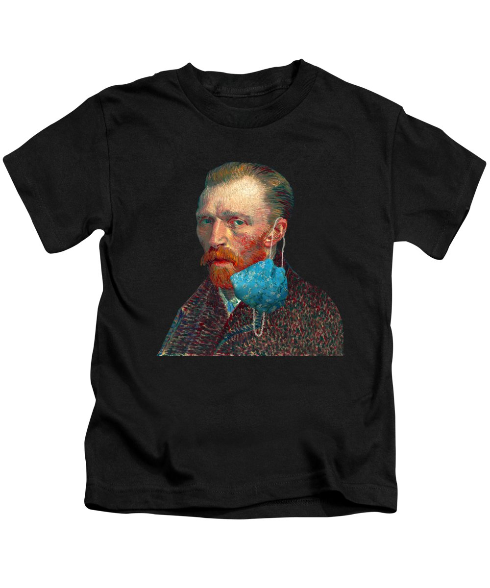 Masked Kids T-Shirt featuring the digital art Vincent Unmasked by Nikki Marie Smith