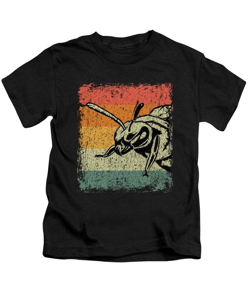 Bee Kids T-Shirt featuring the digital art Vintage Bee Wasp Gift by J M