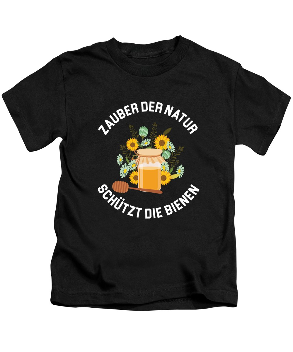 Bee Kids T-Shirt featuring the digital art Zauber Der Natur Bee Beekeeper Honeycomb Gift by Thomas Larch