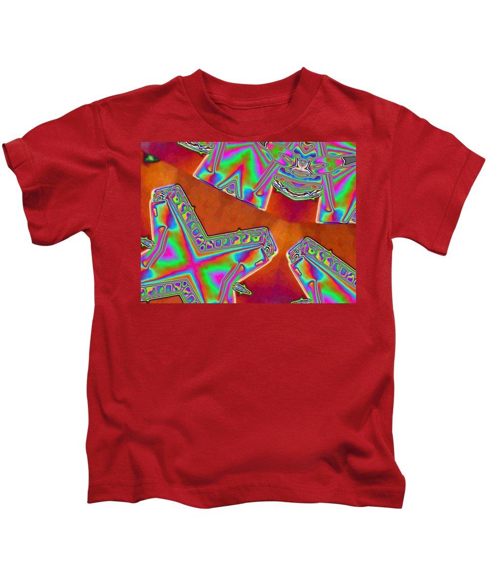 Red Kids T-Shirt featuring the digital art 01-11-2014 by John Holfinger