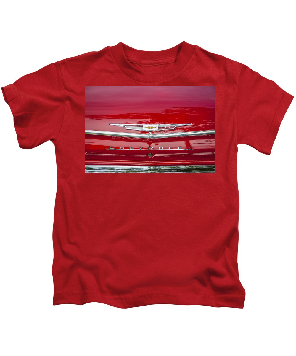 1962 Chevy Kids T-Shirt featuring the photograph 1962 Chevy Impala 409 by Rich Franco