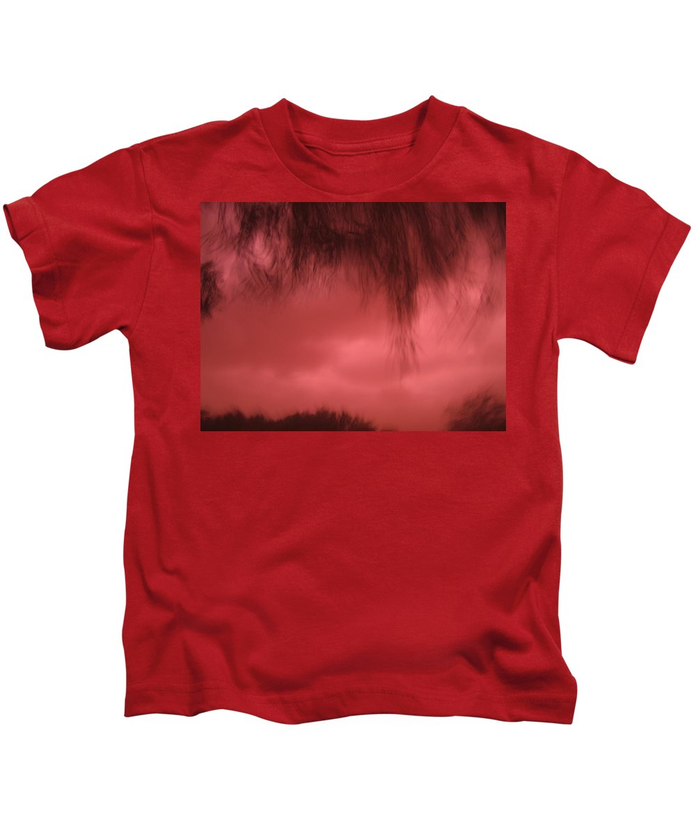 Film Noir Homage Blood Simple 1984 Hanging Tree Branches Casa Grande Arizona 2005 Kids T-Shirt featuring the photograph Film Noir Homage Blood Simple 1984 Hanging Tree Branches Casa Grande Arizona 2005 by David Lee Guss
