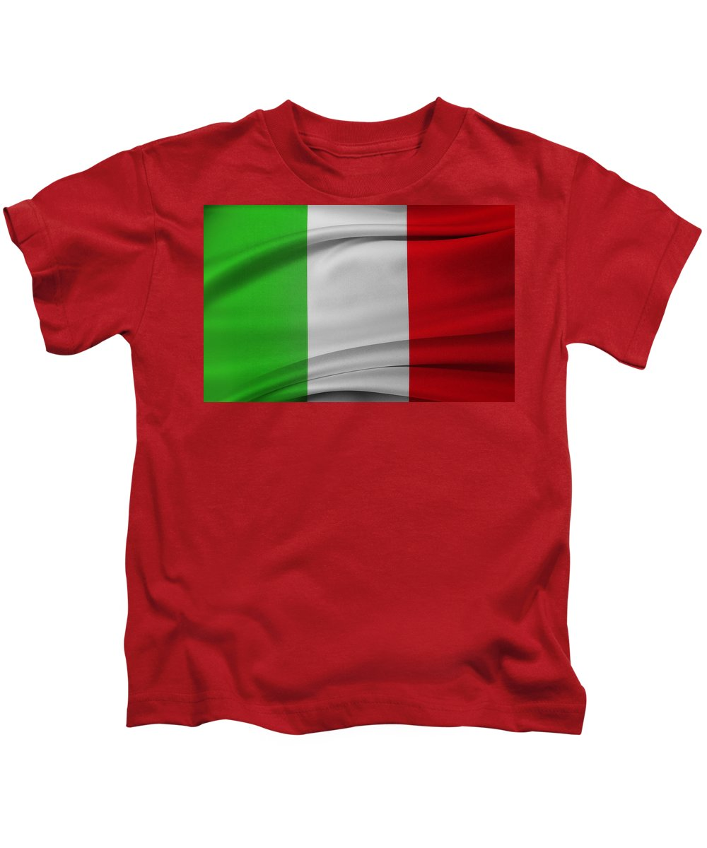 Flag Kids T-Shirt featuring the photograph Italian Flag by Les Cunliffe