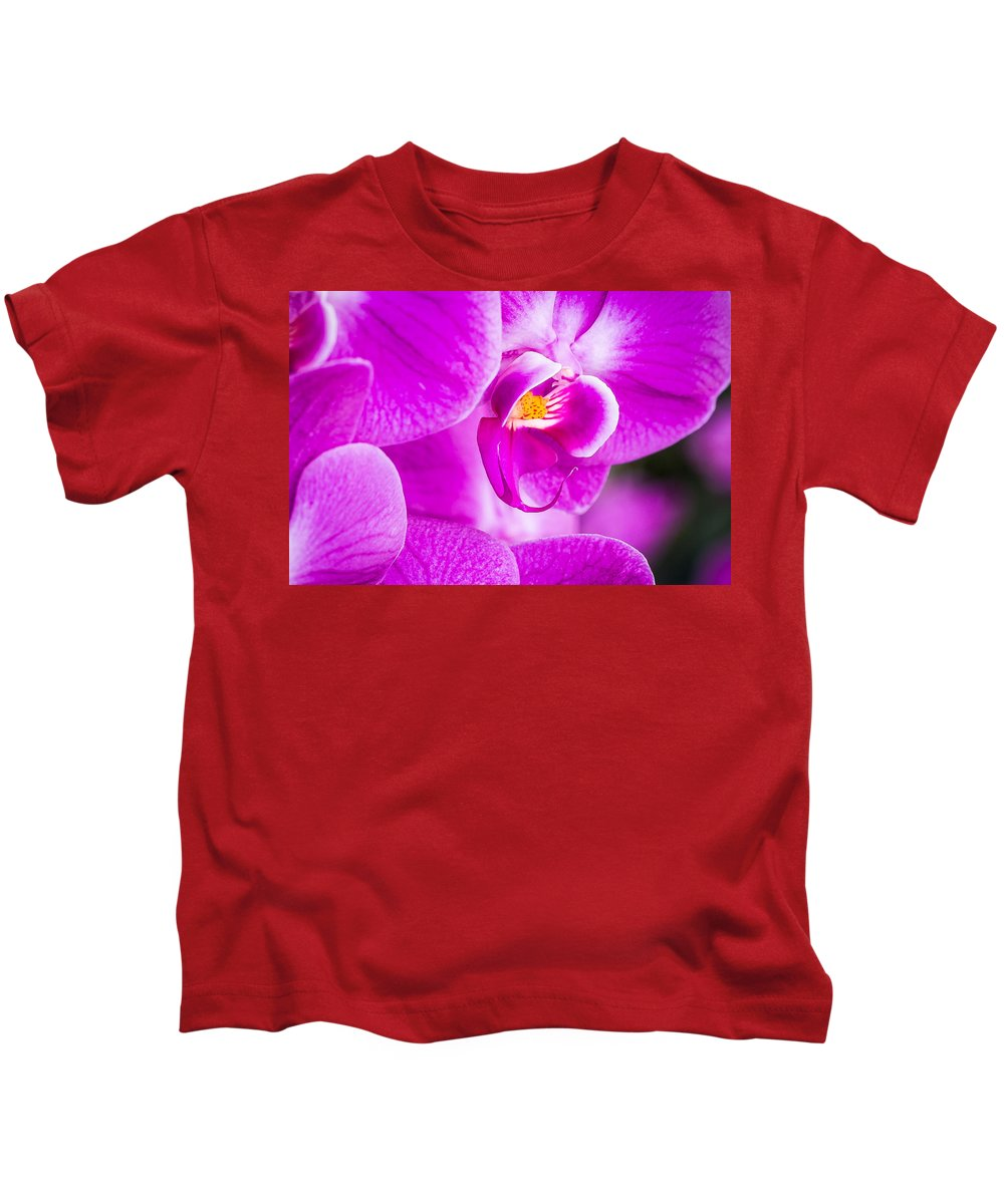 Orchid Kids T-Shirt featuring the photograph Orchid by Dennis Goodman