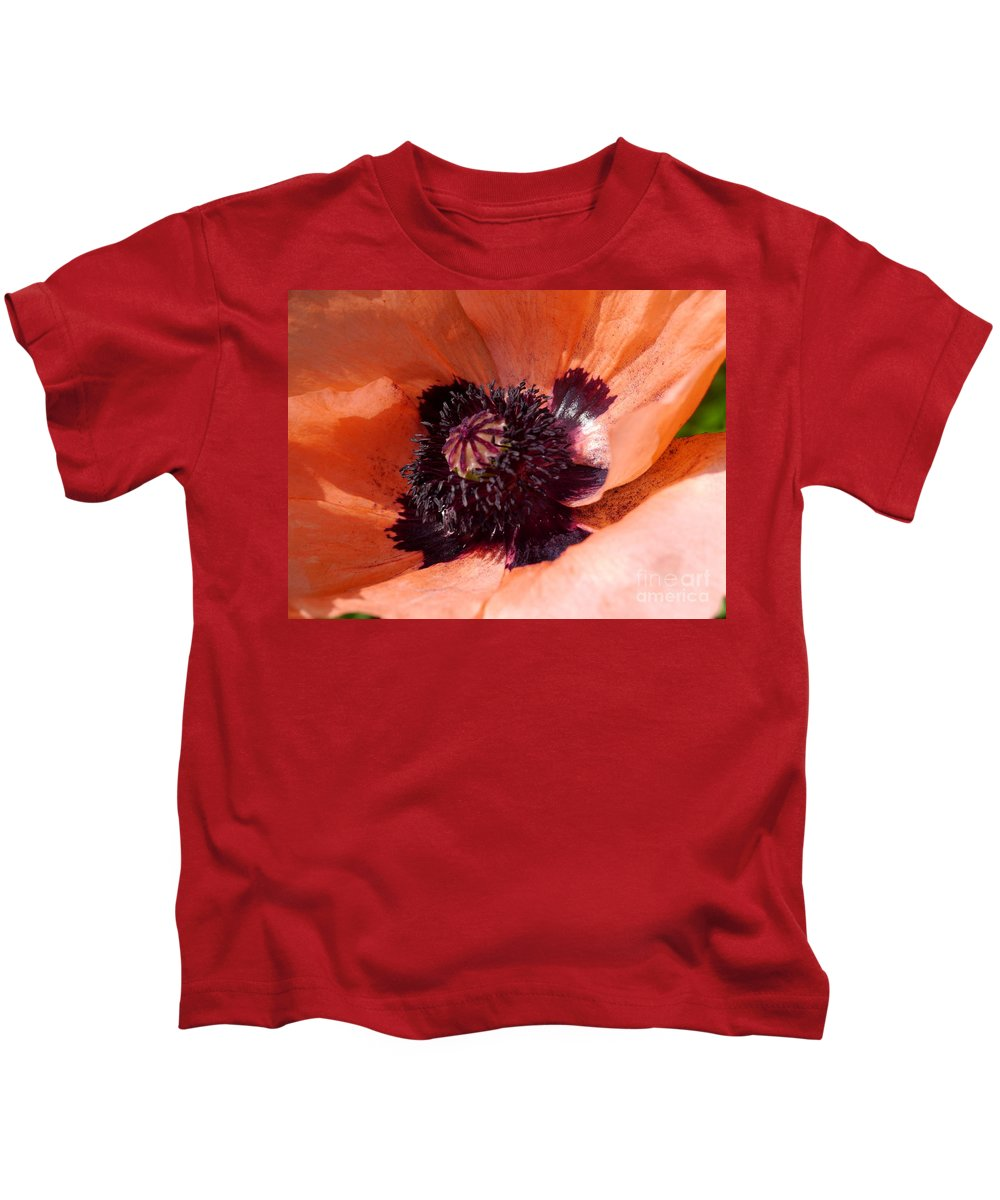 Oriental Poppy Kids T-Shirt featuring the photograph Oriental Poppy by Christiane Schulze Art And Photography