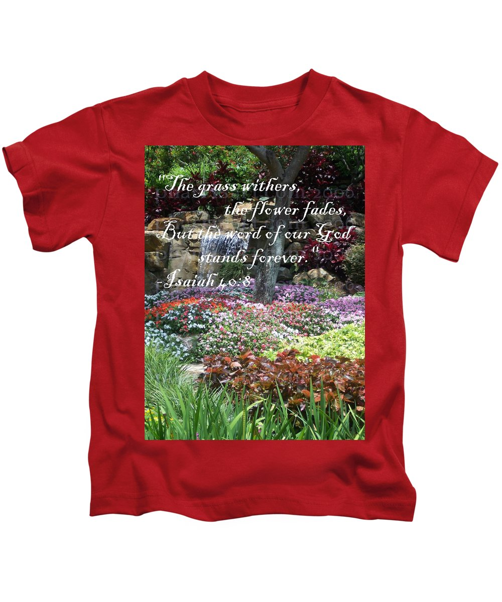 Inspirational Kids T-Shirt featuring the photograph Stands Forever by Pharris Art