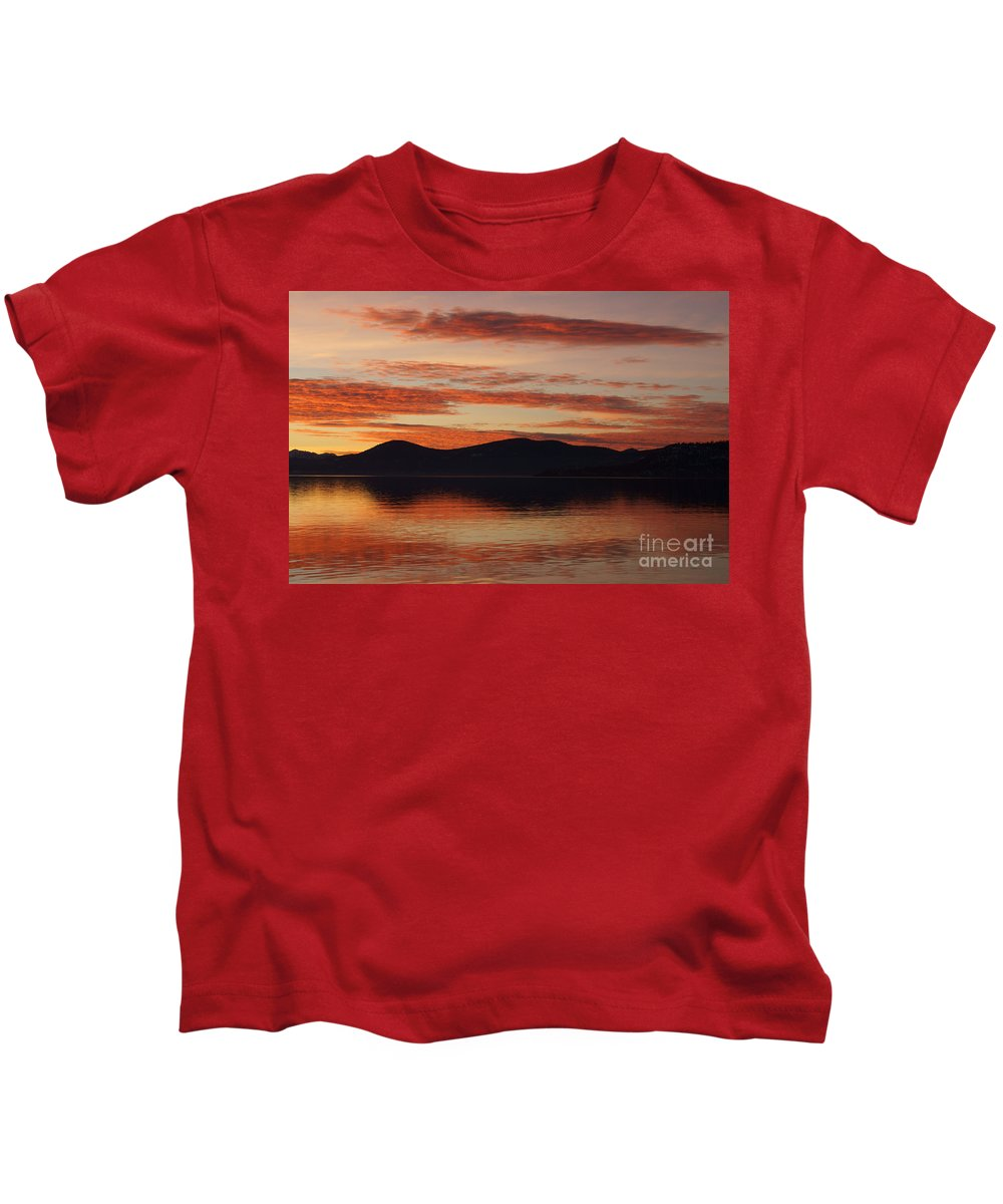 Sunset Kids T-Shirt featuring the photograph Sunset Over Lake Tahoe by Benjamin Reed