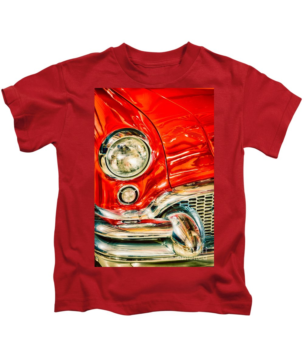 America Kids T-Shirt featuring the photograph 1955 Buick Century by Inge Johnsson