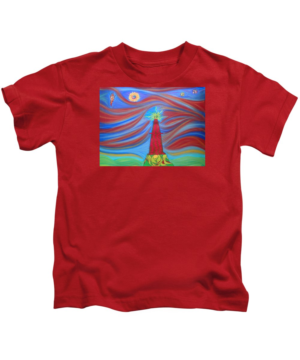 Pastel Kids T-Shirt featuring the pastel 1kin by Robert Nickologianis