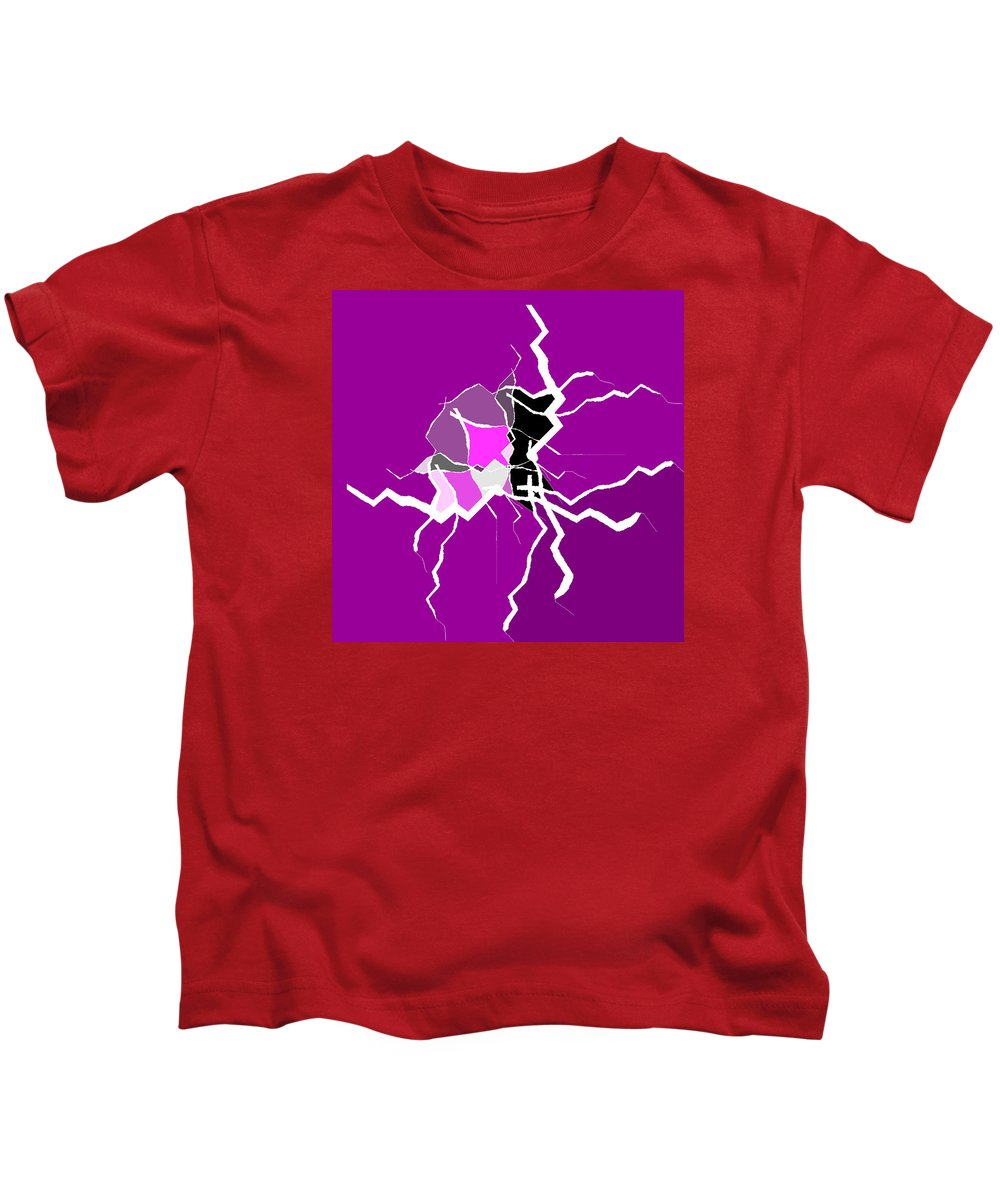 Abstract Kids T-Shirt featuring the digital art 5040.16.27 by Gareth Lewis