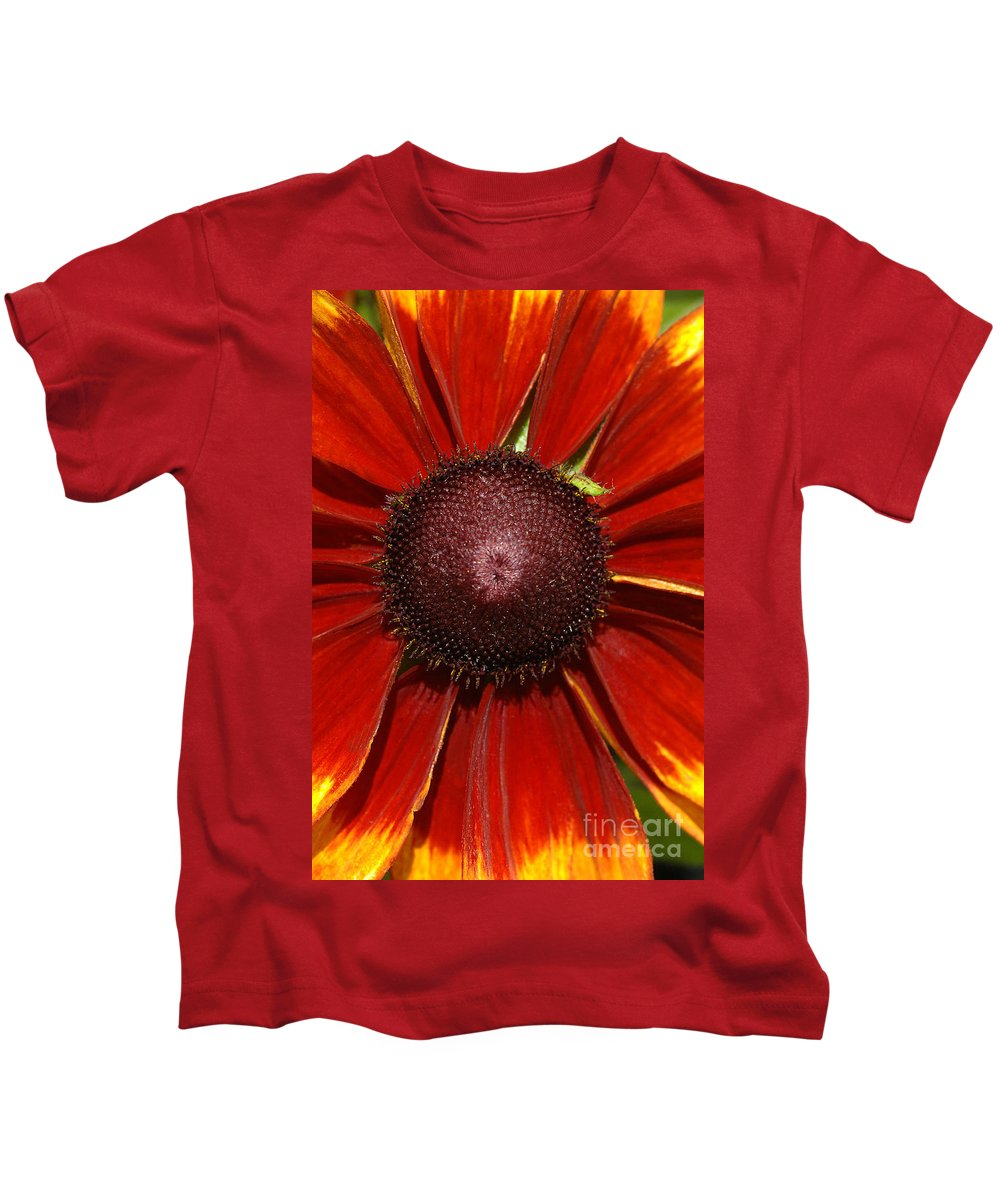 Flower Kids T-Shirt featuring the photograph A Big Orange And Yellow Flower by Mike Nellums
