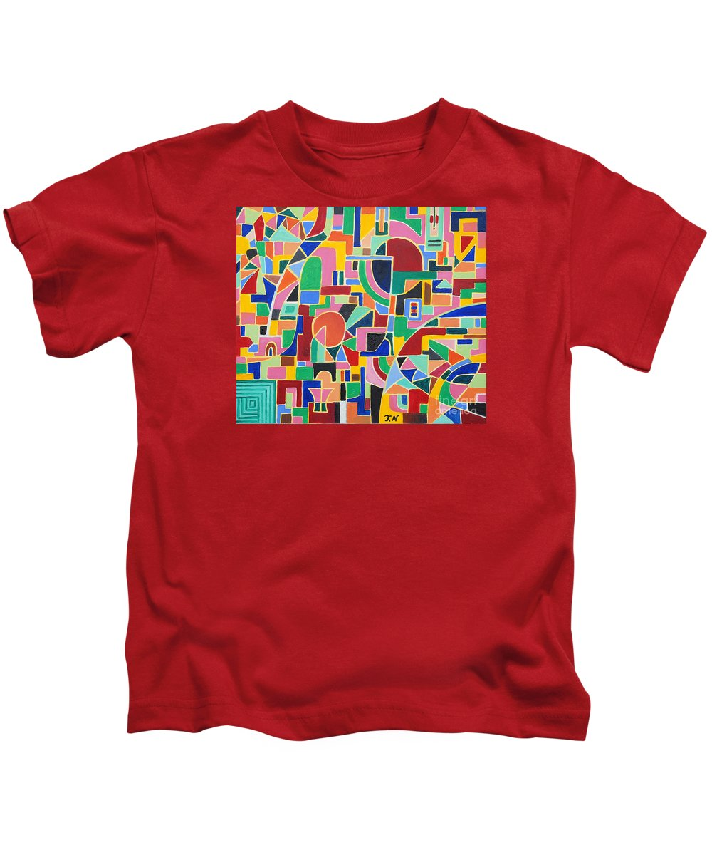 Casino Kids T-Shirt featuring the painting A Casino In Las Vegas by Taikan Nishimoto