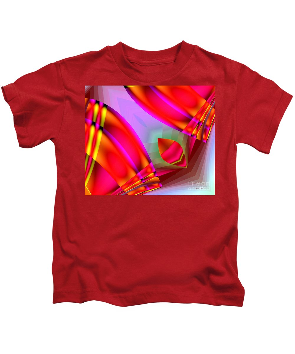 Abstract Kids T-Shirt featuring the digital art Abstract 134 by Maria Urso