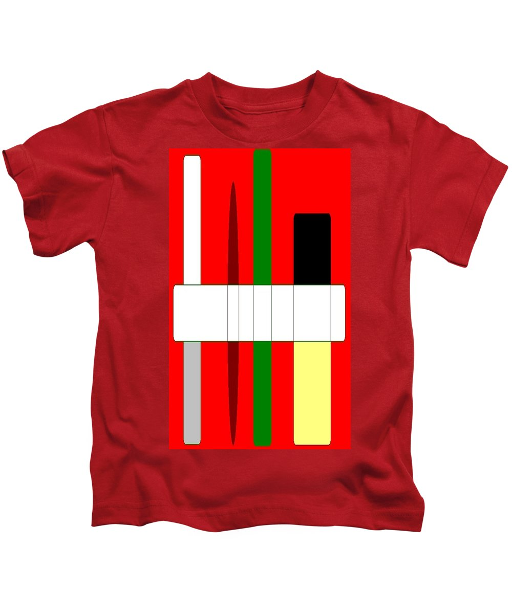 Kids T-Shirt featuring the painting Abstract #3 by Earnestine Clay