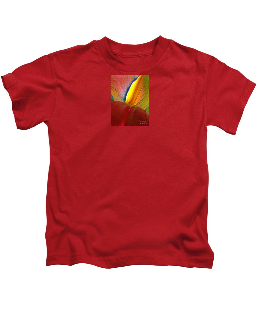 Abstract Kids T-Shirt featuring the photograph Abstract Iris 2 by Linda Parker