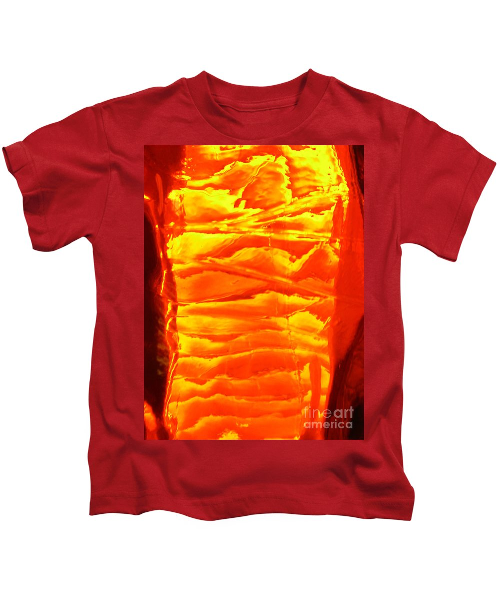 Orange Kids T-Shirt featuring the photograph Abstract Orange by Amanda Barcon