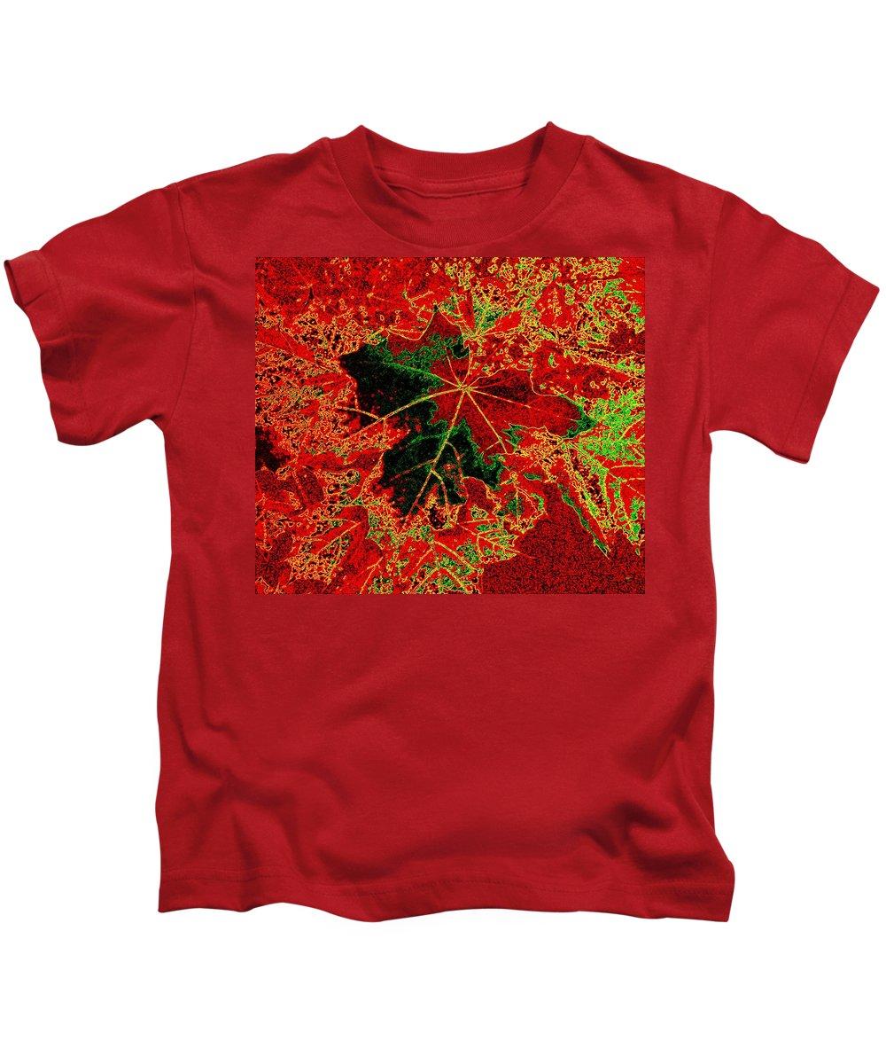 Autumn All Ablaze Kids T-Shirt featuring the digital art Autumn All Ablaze by Will Borden
