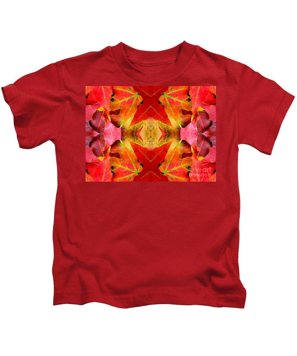 Autumn Leaves Kids T-Shirt featuring the photograph Autumn Leaves Mirrored by Rose Santuci-Sofranko