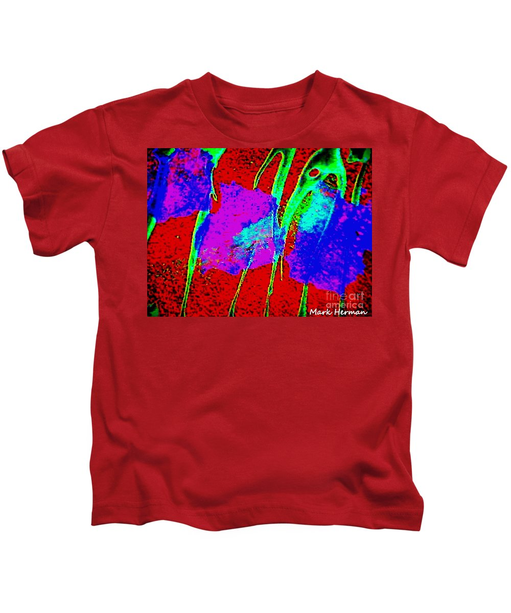 Bright Colors Kids T-Shirt featuring the painting Bass by Mark Herman