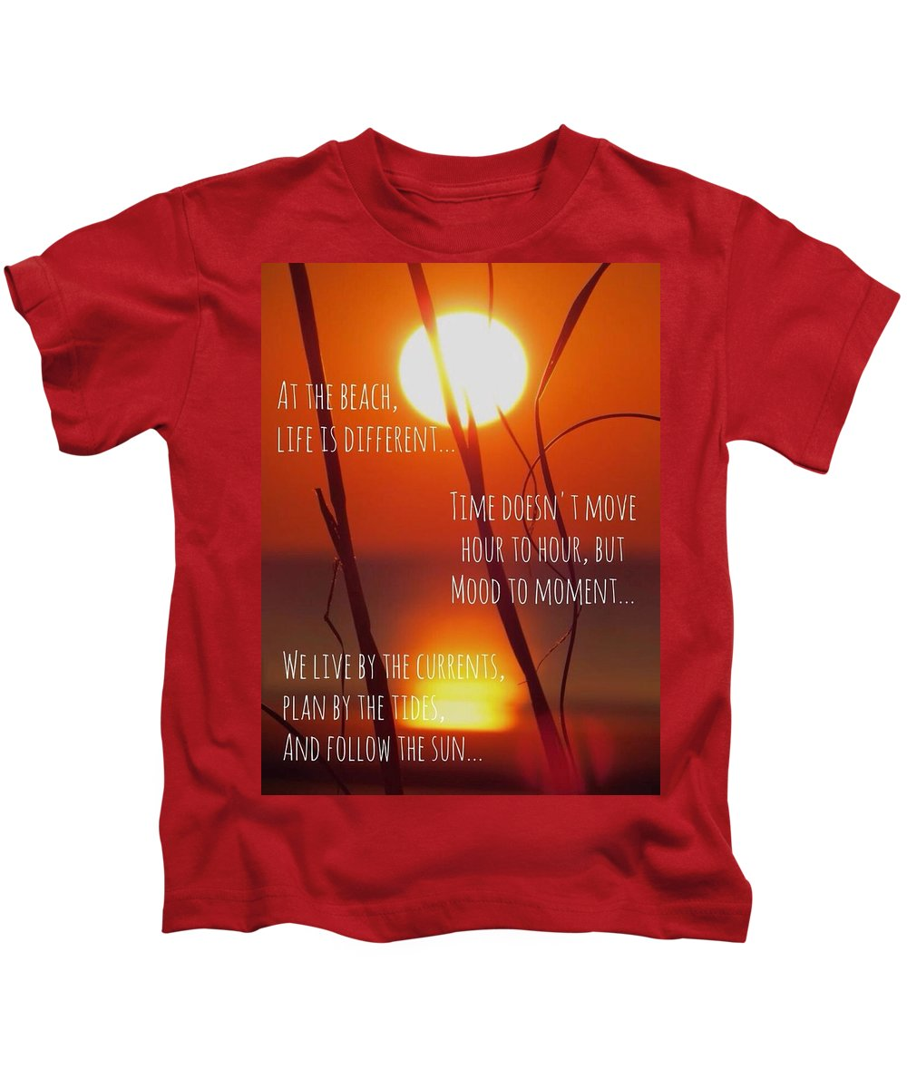 Quote Kids T-Shirt featuring the photograph Beach Quote by Nikki Watson  McInnes