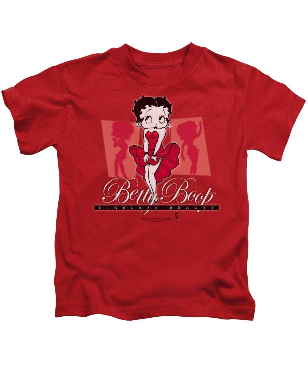 Betty Boop Kids T-Shirt featuring the digital art Boop - Timeless Beauty by Brand A