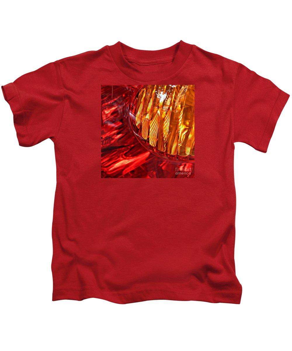 Glass Kids T-Shirt featuring the photograph Brake Light 17 by Sarah Loft