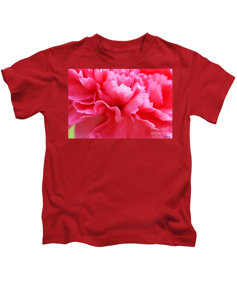 Carnation Kids T-Shirt featuring the photograph Bright Carnation by Carol Lynch
