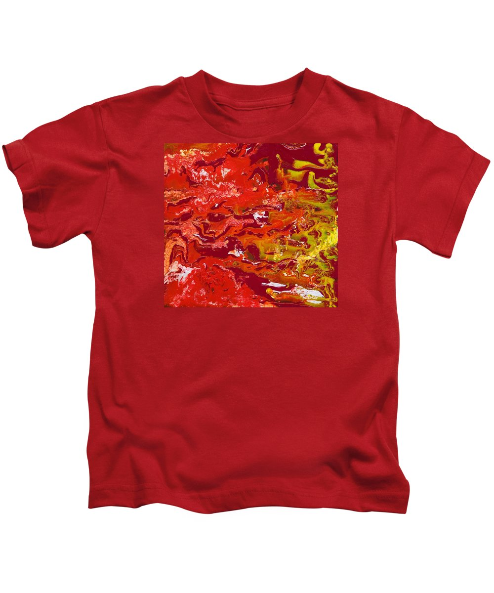Fusionart Kids T-Shirt featuring the painting Caliente by Ralph White