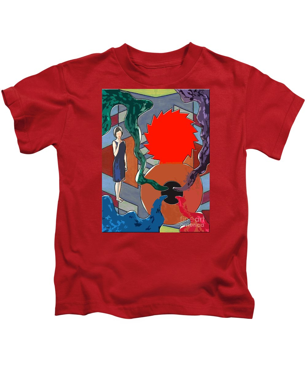 Tin Can Kids T-Shirt featuring the painting Can Of Worms by Patrick J Murphy