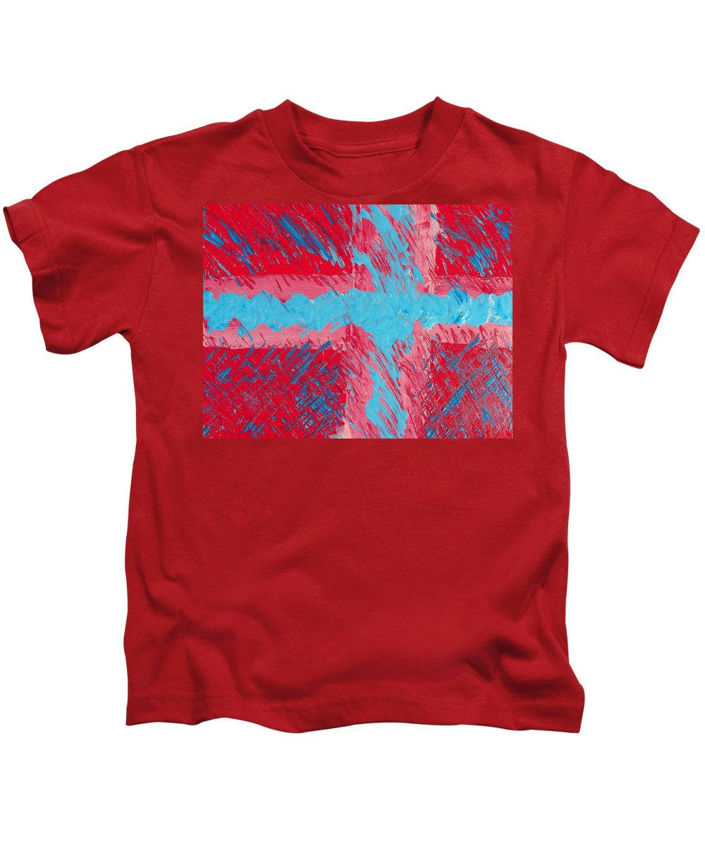 Abstract Kids T-Shirt featuring the painting Celebrating Human Imperfection by Lenore Senior