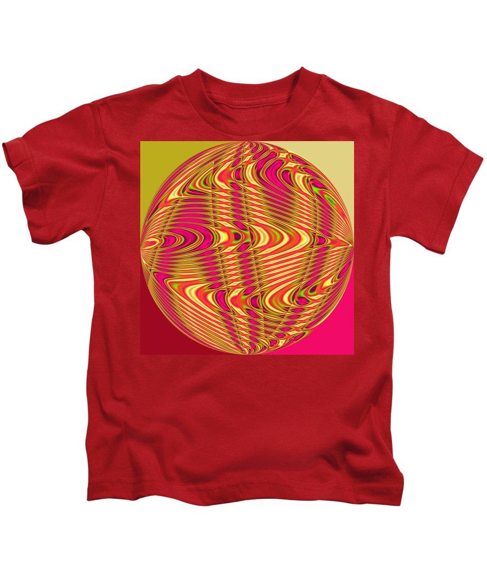 Yellow Kids T-Shirt featuring the digital art Central African Republic by John Holfinger
