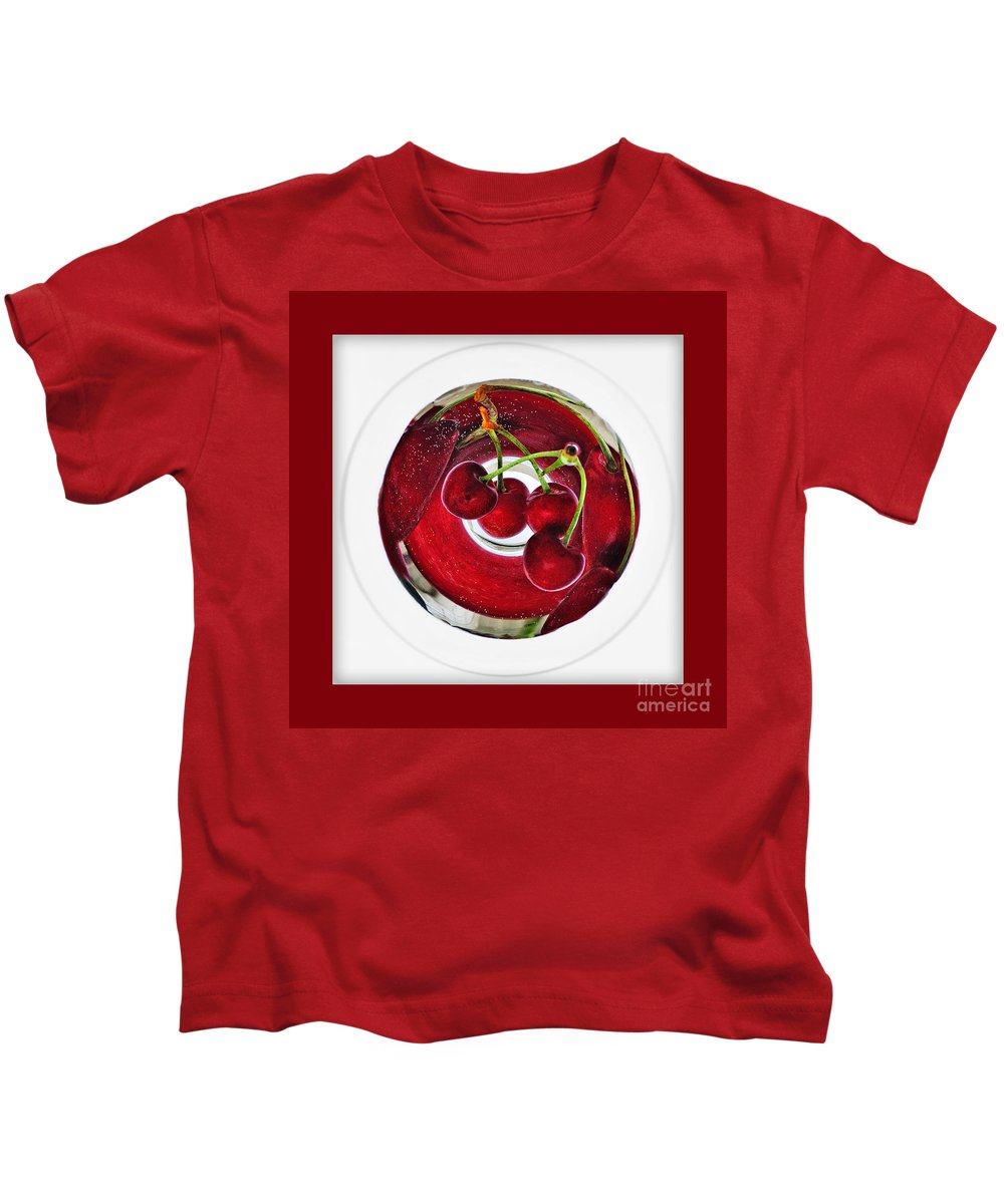 Photography Kids T-Shirt featuring the photograph Cherry Liqueur Anyone... by Kaye Menner