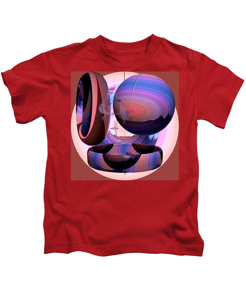 Modern Kids T-Shirt featuring the painting Christalline Energies by Georgeta Blanaru