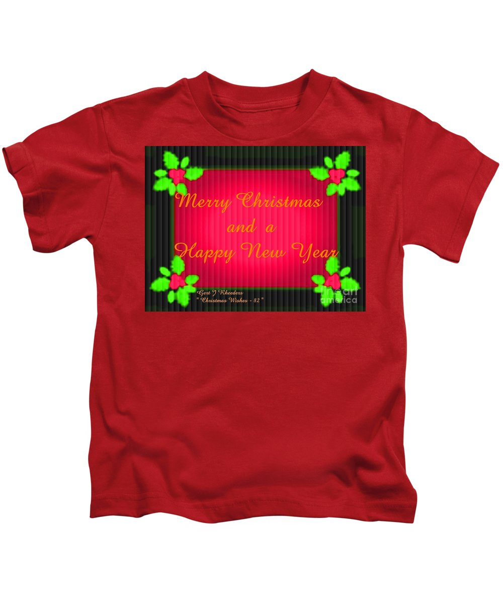 Modern Kids T-Shirt featuring the painting Christmas Cards And Artwork Christmas Wishes 82 by Gert J Rheeders