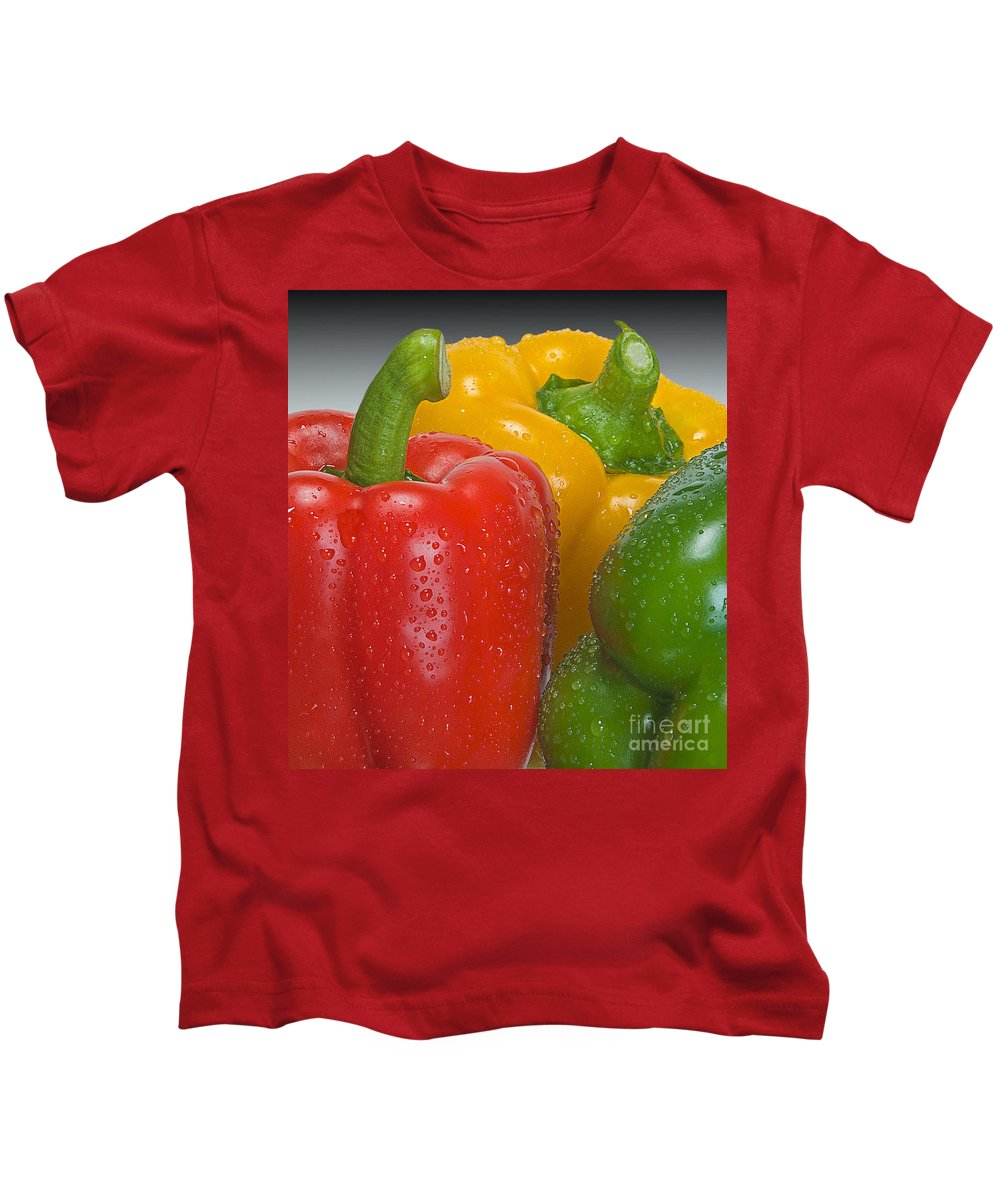 Bell Kids T-Shirt featuring the photograph Colorful Trio by Susan Candelario