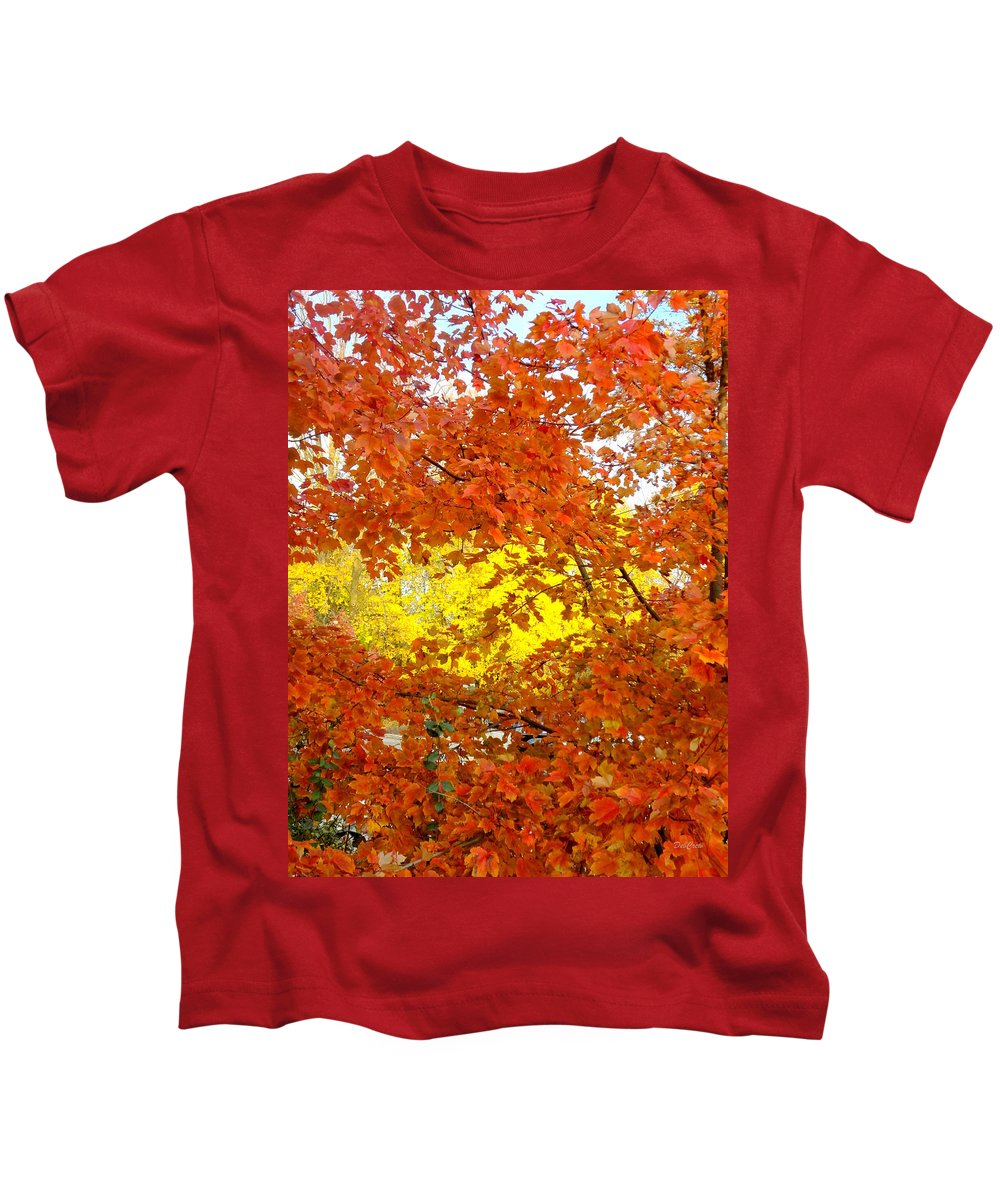 Trees Kids T-Shirt featuring the photograph Colors Of Fall 2 by Deborah Crew-Johnson