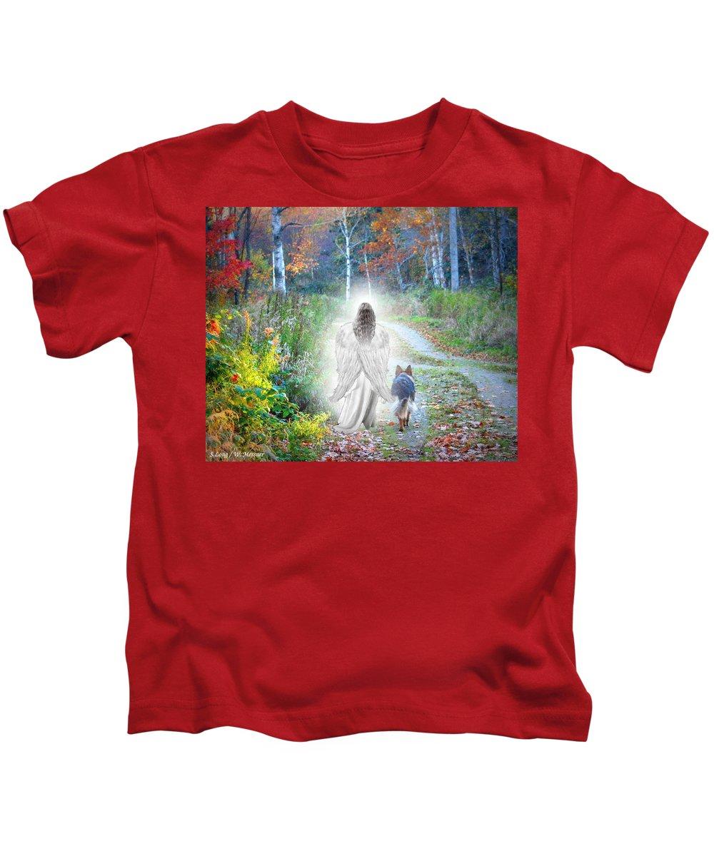 German Shepherd Photographs Kids T-Shirts