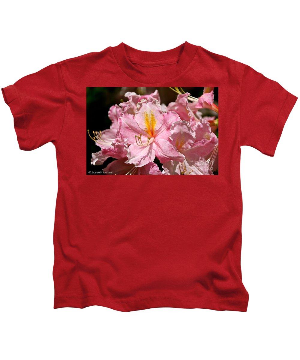 Flower Kids T-Shirt featuring the photograph Cotton Candy Azalea by Susan Herber