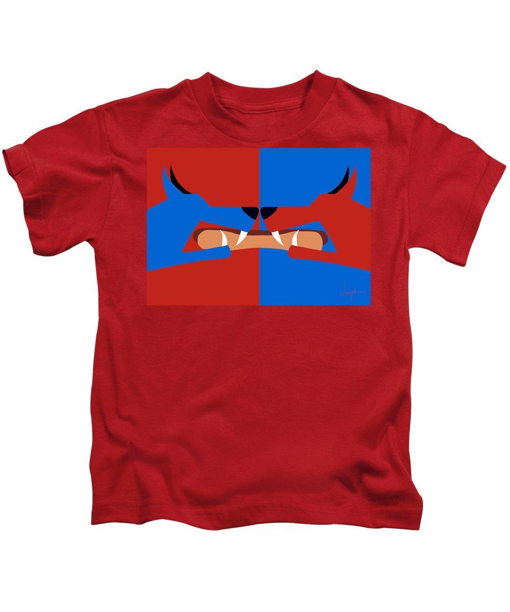 Dog Kids T-Shirt featuring the digital art Dog Eat Dog by Joseph Tamassy