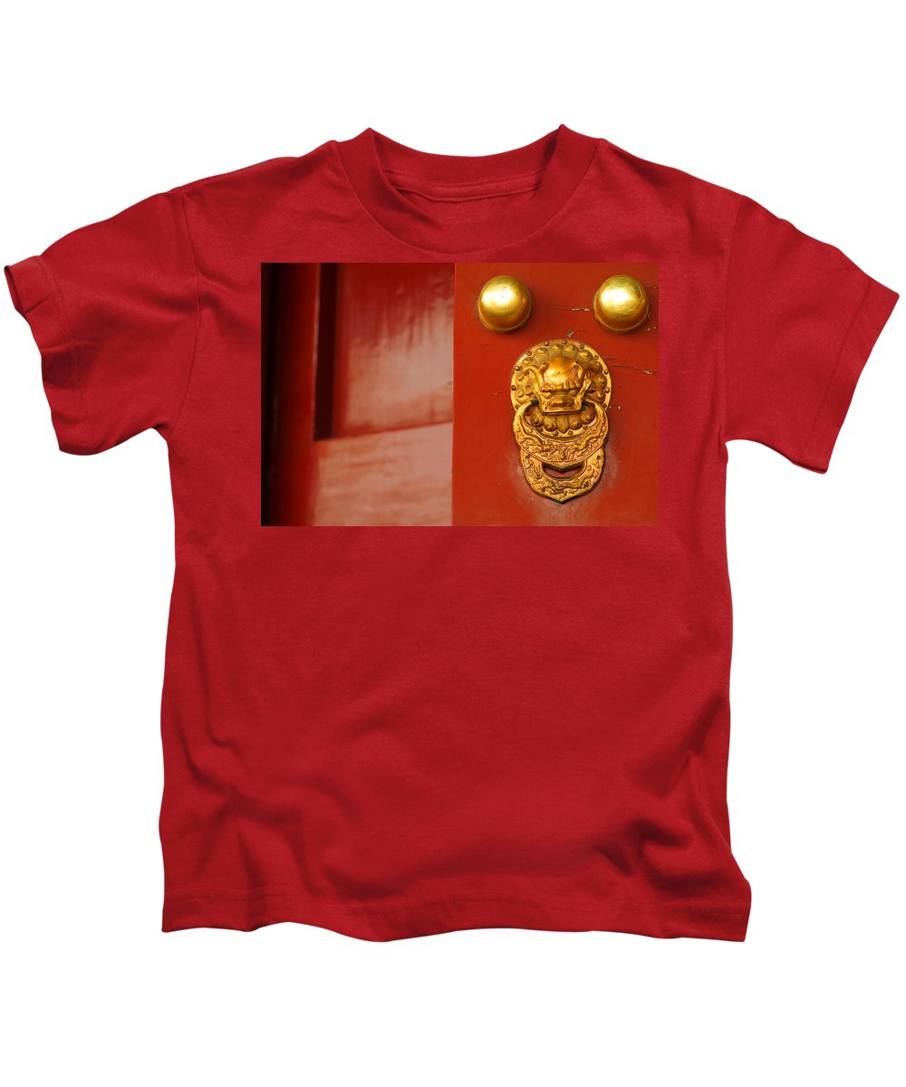 China Kids T-Shirt featuring the photograph Door Handle by Sebastian Musial