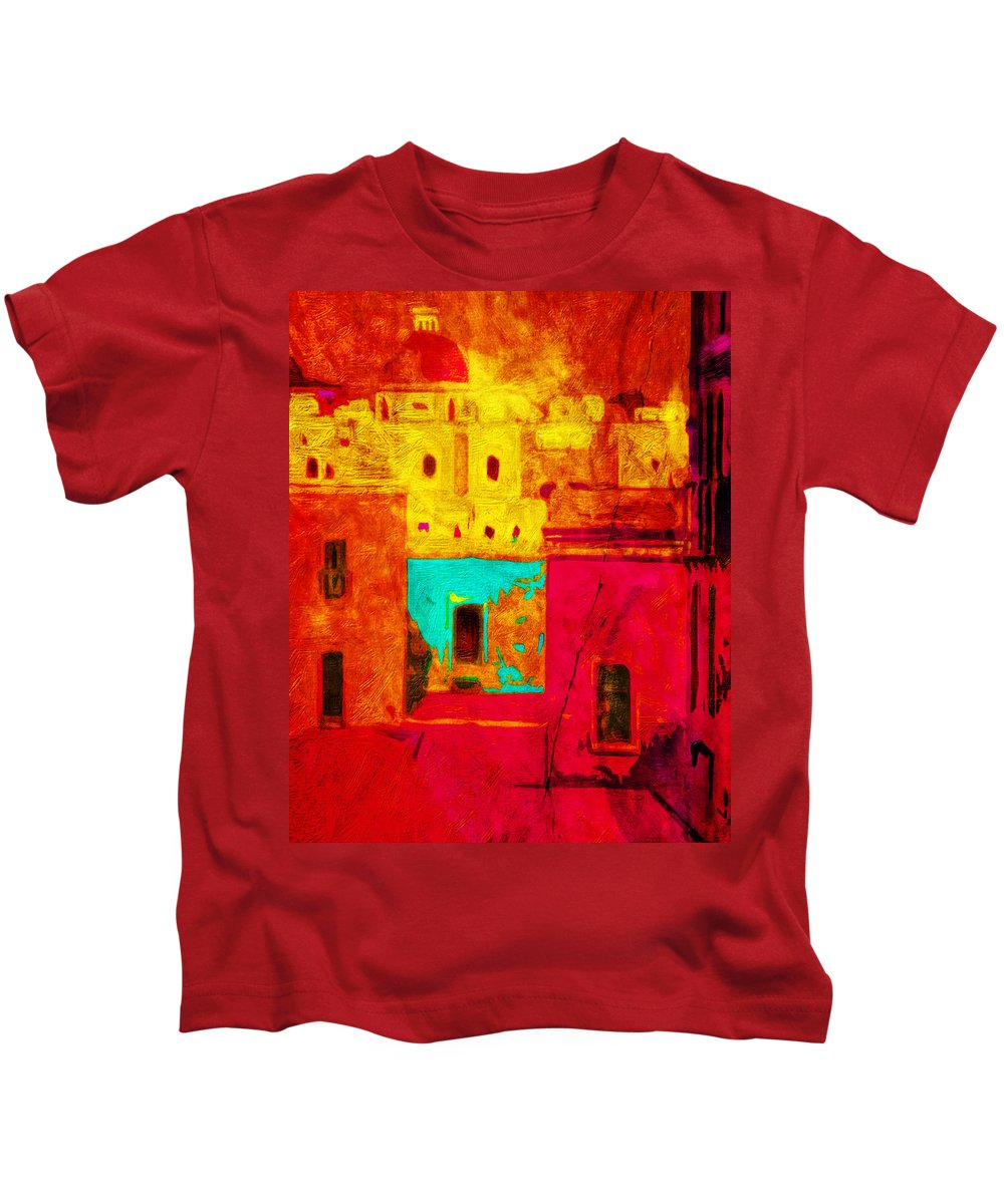 Color Kids T-Shirt featuring the photograph Downtown Oaxaca by Terry Fiala