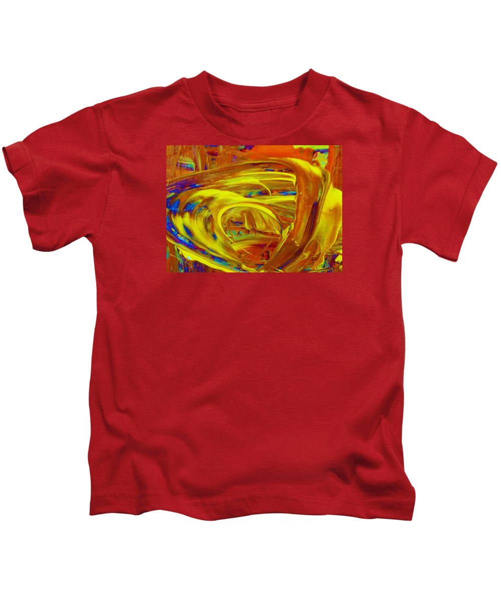 Original Kids T-Shirt featuring the painting Easz by Artist Ai