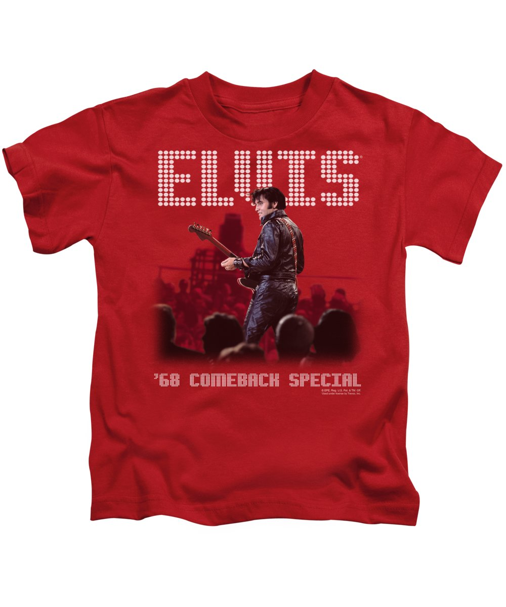 Elvis Kids T-Shirt featuring the digital art Elvis - Return Of The King by Brand A